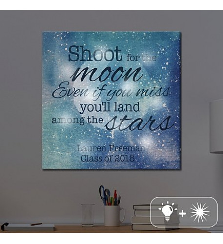TwinkleBright LED Shoot For The Moon Canvas
