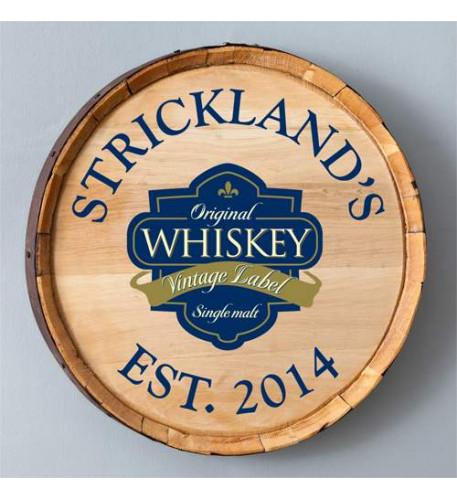 Whiskey Barrel Sign