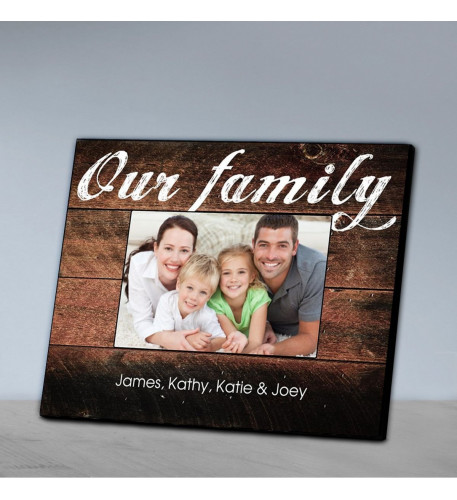 Personalized Family Picture Frame - Our Family