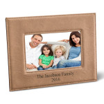 Personalized Black 5x7 Leatherette Frame