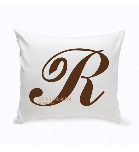 Personalized Family Initial Throw Pillow