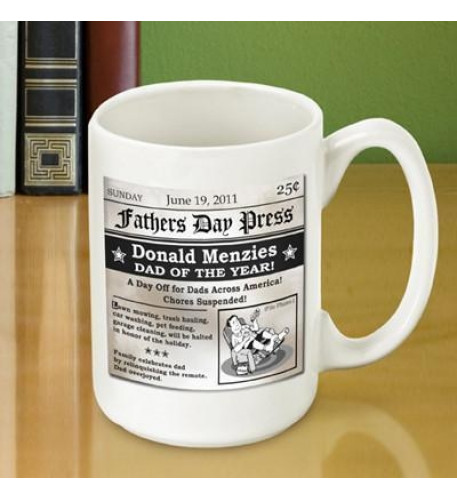 Father's Day Headline Coffee Mug
