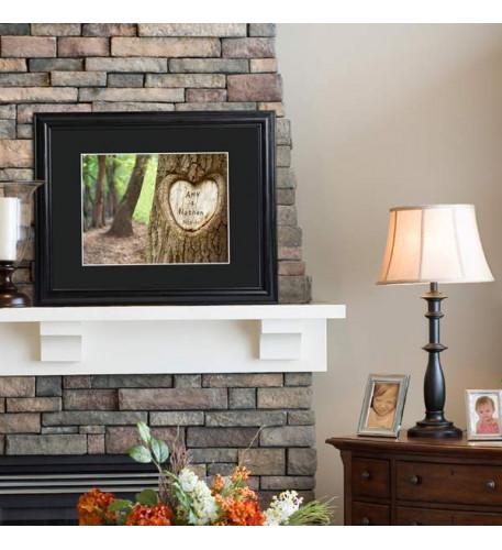 Tree of Love Print w | Wood Frame
