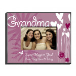 Personalized Hearts and Flowers Picture Frame