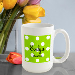 Personalized Polka Dots Coffee Mug