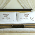 Couples Personalized Royal Correctness Pillow Case Sets